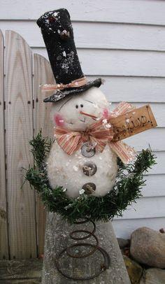 Primitive Snowman Rusty Spring @Bettie Walker Walker Walker Tuck @Gayle Robertson Robertson Robertson Daniel