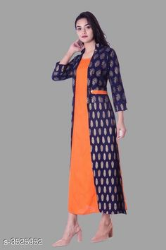 Checkout this latest Kurtis Product Name: *Women Rayon Jacket Kurta Solid Orange Kurti* Fabric: Rayon Pattern: Solid Combo of: Single Sizes: S, M, L, XL, XXL, XXXL Easy Returns Available In Case Of Any Issue   Catalog Rating: ★4.1 (392)  Catalog Name: Women Rayon Jacket Kurta Solid Orange Kurti CatalogID_490984 C74-SC1001 Code: 764-3525952-9021