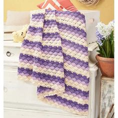 Herrschners® Twilight Shells Crochet Afghan Kit