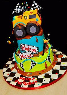 A better photo of the Monster Truck cake made for Icing Smiles. Cupcakes, Cupcake Cookies, Monster Truck Birthday, Monster Trucks, 4th Birthday Cakes, Birthday Boys, Birthday Ideas, Cupcake Pictures, Truck Cakes