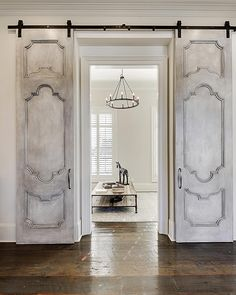 Barn Doors And Hardware House Design, Door Design, House, Barn Door Designs, Custom Homes, Solid Core Interior Doors, Doors Interior, Home Decor, Traditional Doors