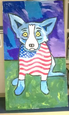 Our Veterans Day Blue Dog collaboration 8'x5', changes monthly 5th grade
