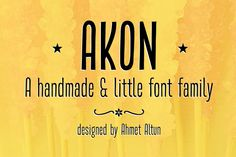 Akon Font Family by aatype on Creative Market