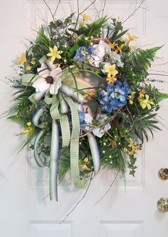 XL Door Wreath Filled With Southern Magnolias by LadybugWreaths,
