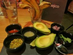 Ingredients for guacamole at Mejico on Pitt Street in Sydney