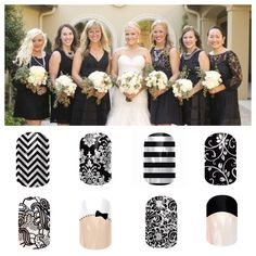 Coordinate your nails with your wedding. Click the image to browse and shop over 300 styles or email MrsSarahWiley@Gmail.Com for a free sample!