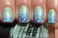 Twinsie Nails with Cats n Nails - gradient stamp