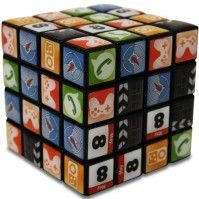 rubik cube with the iPhone icons