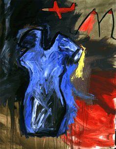 Vestido azul con paisaje - Samy Benmayor