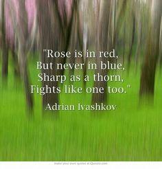 Adrians poem to rose