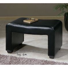 Uttermost Pepina Leather Bench 23150