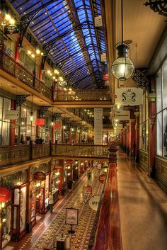 The Strand Arcade, Sydney. Entry through George or Pitt street. One of the classiest arcades in the city. The arcade boasts trendy cafes, leather goods, jewellery stores and high end fashion. Must visit for the classy woman.