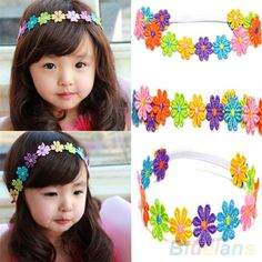 Cheap flower headband, Buy Quality lace flower headband directly from China band girl Suppliers: Children Baby Hair Band Girl Colorful Sunflower Lace Flowers Headband Diy Hair Bows, Diy Bow, Diy Ribbon, Lace Flowers, Flowers In Hair, Fabric Flowers, Baby Hair Bands, Flower Hair Band, Headband Hairstyles