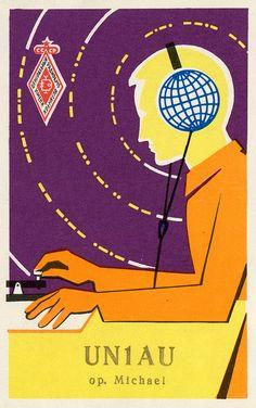 soviet qsl card