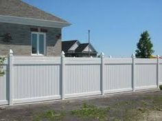 solid fence with concrete posts - Google Search