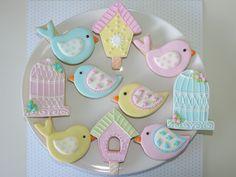 Resultado de imagem para biscoitos decorados passarinhos