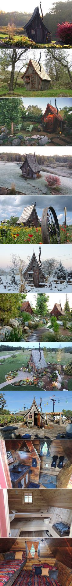 They Appear to be Straight from a Fantasy Film, But These Tiny Cabins are Real Livable Homes home architecture interesting home ideas home design tiny homes architecture ideas architecture projects architecture and design Fairy Houses, Play Houses, Kids Outdoor Playground, Pavillion, Crooked House, Tim Burton, Tiny Cabins, Fantasy Films, Witch House