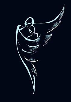 A guardian angel is an angel that is assigned to protect and guide a particular person, group, kingdom, or country. Belief in guardian angels can be traced thro Bild Tattoos, Body Art Tattoos, Pencil Art Drawings, Drawing Sketches, Drawing Faces, Neck Tatto, Angel Drawing, Angel Art, Rock Art