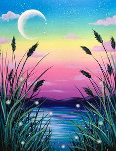 Virtual Paint Nite with Krystal (EST) at Virtual Venue - Your Device Hampton Roads, Chesapeake, VA, US Canvas Painting Tutorials, Diy Canvas Art, Diy Painting, Natur Wallpaper, Pastel Art, Art Drawings Sketches, Painting Inspiration, Amazing Art, Landscape Paintings