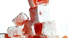 Turkish delight recipe : SBS Food - would do almond instead of rosewater Red Food Coloring, Colouring, Sbs Food, Blanched Almonds, Turkish Delight, Middle Eastern Recipes, Turkish Recipes, Rose Water, Different Recipes