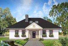 projekt Aleksandria Tura - murowana – ceramika KRD2457 Mansions Homes, Architect House, Small House Design, Design Case, Living Room Interior, Home Fashion, Home Projects, Gazebo, House Plans