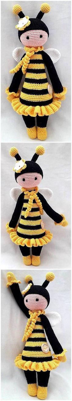 Free Crochet Amigurumi Doll Pattern Tutorials – Amigurumi Lalylala ღ Crochet Doll Tutorial, Crochet Doll Pattern, Crochet Patterns Amigurumi, Amigurumi Doll, Crochet Design, Crochet For Kids, Crochet Baby, Free Crochet, Knit Crochet