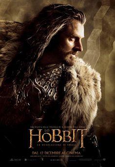 Ecco il Character Poster Italiano di Thorin Scudodiquercia (Richard Armitage), prode guerriero e guida dei Nani! #LoHobbit: La Desolazione di Smaug è al cinema dal 12 Dicembre!