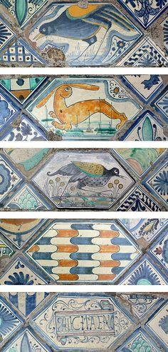 Tiles at Villa d'Este