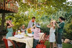 This is an amazing family tradition -- before the first day of school they hold a themed feast for the children, complete with home-made crowns, a special menu, and glass stars to commemorate the new school year.  I so want to do this with my kids!
