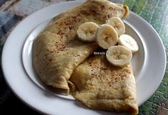 Stronger than yesterday. To FIGHT like a champion, you must TRAIN like one.: Breakfast #4 - Bananowe omlety