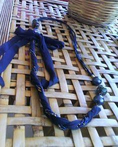 Soraya's Laboratory: collana di stoffa/ fabric necklaces