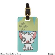 Moana | Pua the Pig. Regalos, Gifts. #Bag #Tags