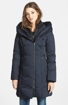 Soia & Kyo Long Down Coat with Inset Bib available at #Nordstrom