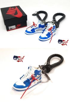785b8e51f52103 Key Chains Rings and Cases 52373  Air Jordan 1 Off White Unc - 3D Sneaker