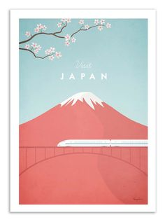 Art-Poster 50 x 70 cm  Visit Japan by WallEditions on Etsy