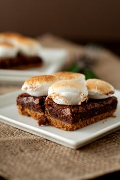 s'more brownies!