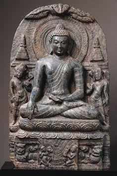 Buddha Shakyamuni.  India, Bihar; Pala period (c.8th - 12th century), late 9th - early 10th century.  The Asia Society