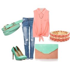 """""""yummy coral"""" by oswin-pond on Polyvore"""