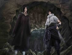 Naruto 578 Sasuke and Itachi Here we have the two brothers. Itachi has always been one of my favourite characters in Naruto and I've been meaning to do . Naruto 578 - Enter The Dragons Cave Naruto Team 7, Naruto Family, Sasuke And Itachi, Anime Naruto, Naruto Shippuden, Boruto, Dragon Cave, Naruto Clans, Enter The Dragon
