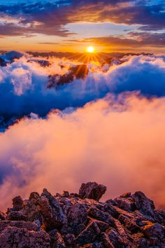 Spectacular sunset as viewed from 13,326 foot Storm Peak - Rocky Mountain National Park, Colorado, USA  (by Crystal Brindle on 500px)
