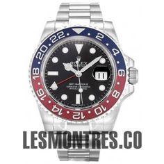 Suisse Replique Rolex GMT-Master II montre en or blanc 116719 BLRO