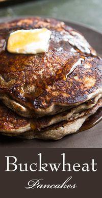 Buckwheat Recipes, Buckwheat Pancakes, Buckwheat Bread, Vegan Pancakes, Paleo Breakfast, Breakfast Recipes, Pancake Recipes, Breakfast Pancakes, Flour Recipes