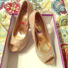 Nude high heels with sparkle Nude high heels with sparkle Shoes Heels