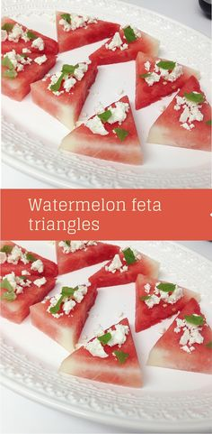 Watermelon Feta Triangles