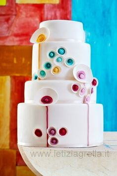 Contemporary Art Cake Cake Stunning!!! Need more great ideas to plan your wedding? www.destinationweddingcollective.com