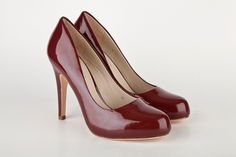 ab406d32a43b Mario Giordano - High heel Burgundy red Patent leather Pumps