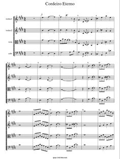 Violinos ICM: Partitura 0027- Cordeiro Eterno