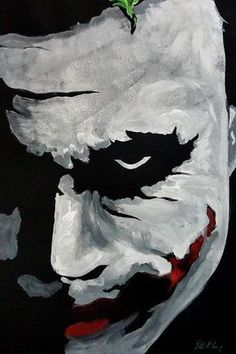 Ledger's Joker Painting by Dale Loos Jr A three-color tribute to Heath Ledger's iconic portrayal of The Joker Heath Ledger Joker Wallpaper, Batman Joker Wallpaper, Joker Iphone Wallpaper, Joker Wallpapers, Joker Ledger, Joker Sketch, Joker Drawings, Funny Drawings, Joker Poster