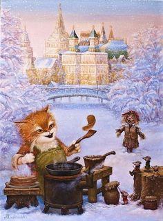 Сказочный мир котов от Александра Маскаева (50 работ)