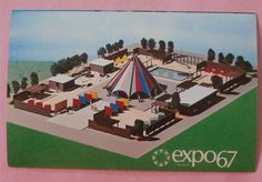 Boy Scout Pavilion Expo 67 Montreal Canada - Unused Postcard